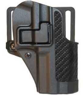 BlackHawk Products Group Cqc Serpa Belt Holster Right Hand Black Carbon Fiber Ruger Sr9 Carbon Fiber Belt Loop And Paddle 410 410041BK-R