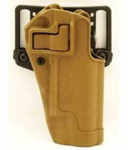 BlackHawk Products Group CQC SERPA Belt Holster Right Hand Coyote Tan Colt Govt Carbon Fiber Belt Loop and Paddle 410503CT-R