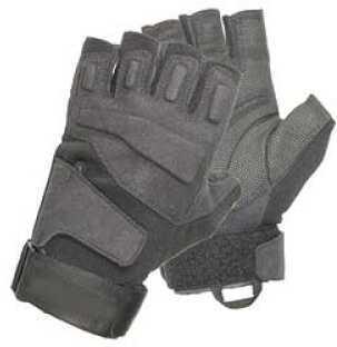 BlackHawk Products Group Gloves Large Black Half-Finger S.O.L.A.G. Light Assault 8068LGBK
