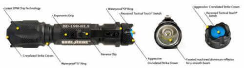 BST Blue Dot Black BD-198-HLS-2C
