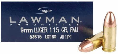 CCI Speer Lawman, 9MM, 115 Grain, Total Metal Jacket 53650