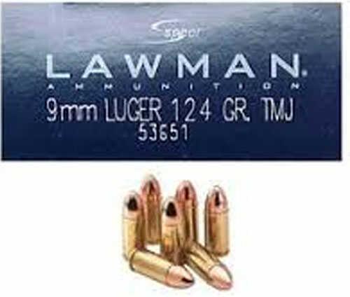 CCI Speer Lawman, 9MM, 124 Grain, Total Metal Jacket 53651