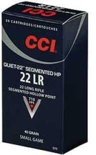 CCI Quiet 22 Long Rifle 710 Fps 40 Grains Segmented HP 50 Rounds