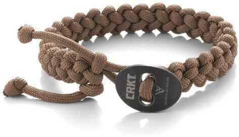 Columbia River Knife & Tool Scarvalas Bracelet Tan Quick Release Survival Bracelet Lg 9350Tl