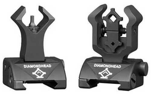 AR-15 Diamondhead USA, Inc. Diamond Sight Integrated Sighting System (I.S.S.) Sight Picatinny Black Front/Rear Flip Sigh