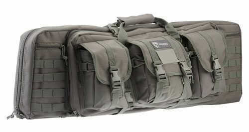 """Drago Gear Double Gun Case Double Rifle Case Seal Grey 36"""" 12-301GY"""