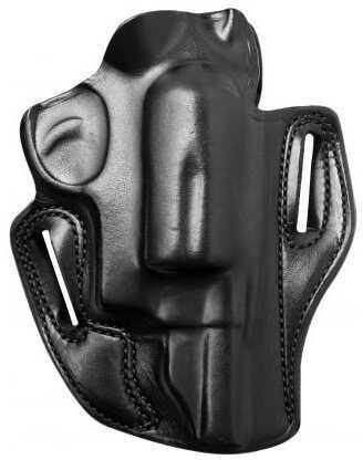"Desantis 002 Speed Scabbard Belt Holster Right Hand Black 2.75"" S&W Governor Leather 002BAV1Z0"