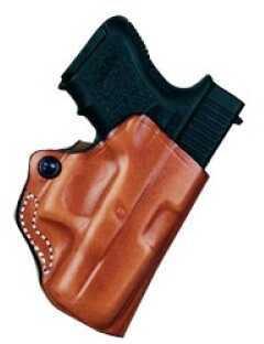 Desantis 019 Mini Scabbard Belt Holster Right Hand Black Glk 26/27 Leather 019BAE1Z0