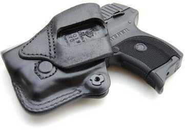 Desantis Mini Scabbard Belt Holster, Fits Glock 43, Left Hand, Black Leather 019BB8BZ0