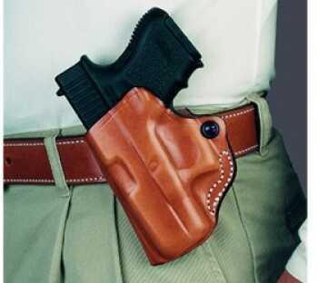 Desantis 019 Mini Scabbard Belt Holster Left Hand Black Glk 26/27 Leather 019BBE1Z0