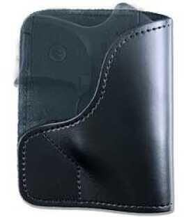 Desantis 021 Trickster Pocket Holster Ambidextrous Black P3AT & LCP With Crimson Trace LaserGuard Leather