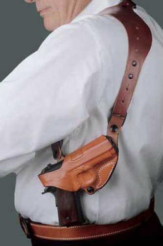 Desantis 11Z CEO Shoulder Holster Right Hand Tan GLOCK 17, 22, 19, 23 Leather