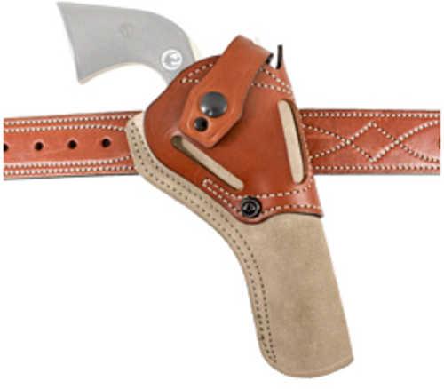 DeSantis Gunhide Wild Hog Cowboy Belt Holster Fits Ruger Wrangler Ambidextrous Tan Leather 189NJ9QZ0