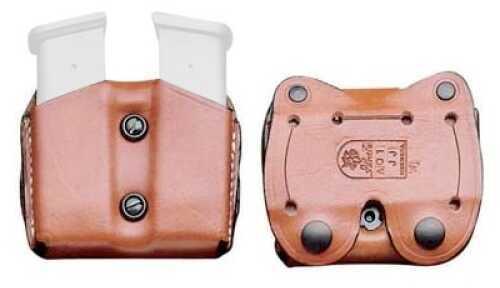 Desantis A01 DBL MAG Pouch Magazine Pouch Ambidextrous Tan Glk 26/27 Leather A01TJIIZ0