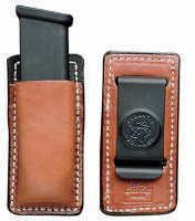 Desantis A47 Secure Magazine Pouch Magazine Pouch Ambidextrous Black Single Mag Glock, HK Leather