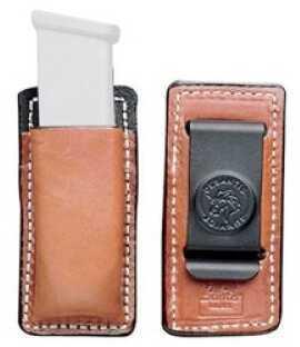 Desantis A47 Secure Magazine Pouch Magazine Pouch Ambidextrous Tan SGL Stock 45CAL Leather A47TJLLZ0