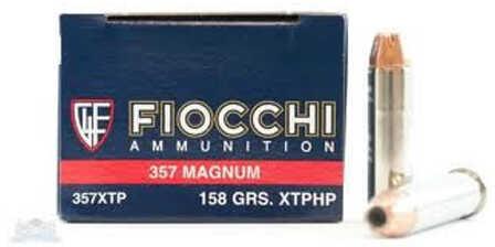 Fiocchi Ammo Fiocchi Ammunition Fiocchi Centerfire Pistol, 357 Mag Ammo 158 Grain, XTP Metal JacketTailing 25 Pe 357XTP25