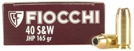 Fiocchi Ammo Fiocchi Ammunition Fiocchi Centerfire Pistol Ammo 40S&W, 165 Grain, Complete Metal Jacket 20 Rounds 40SWFCMJ