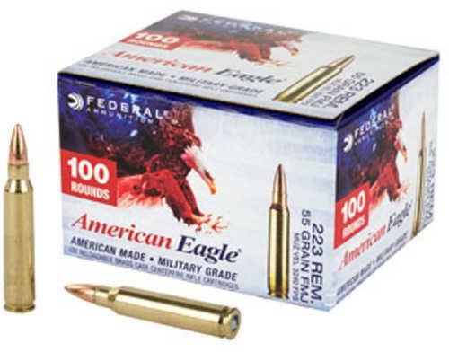 Federal American Eagle 223 Remington 55 Grain Full Metal Jacket 100 Round  Box AE223BLF