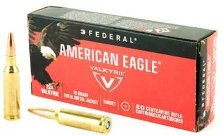 Federal American Eagle .224 Valkrie 75 Grain TMJ 20-pack