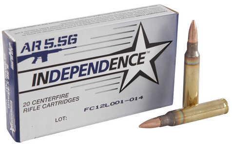 Federal Cartridge IMI Independence 5.56 NATO 55Gr Full Metal Jacket 20 Rounds Ammunition XM193I