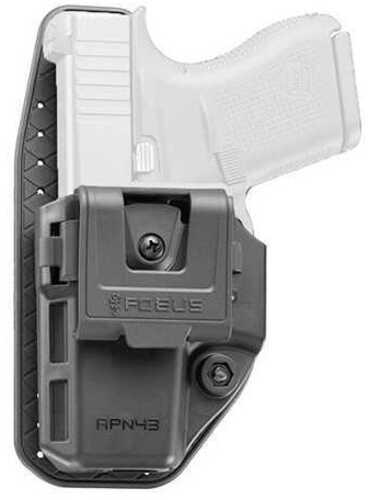 Fobus Appendix Holster Fits Glock 43/43X Ambidextrous Kydex Black Finish APN43