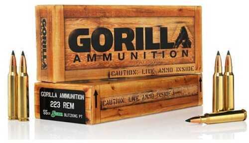 Gorilla Ammunition Company LLC Gorilla Ammunition 223 Rem 55Gr Sierra BlitzKing 20 Rounds Ammunition GA22355SBK