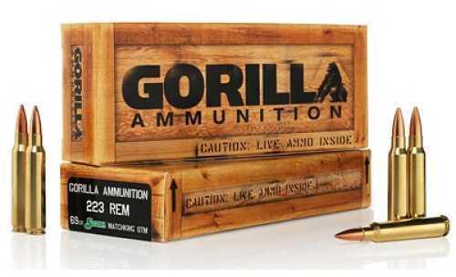 Gorilla Ammunition Company LLC Gorilla Ammunition 223 Rem 69Gr Boat tail Hollow Point Sierra BTHP 20 Rounds Ammunition GA22369SMK