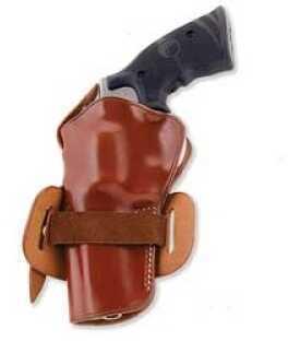 """Galco International Wheelgunner Belt Holster Ambidextrous Tan 4"""" S&W K & L Frame Leather WG104"""
