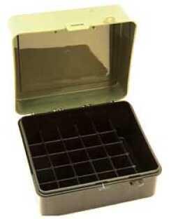 Plano 25 Round Ammo Case Shotgun Shell Case Charcoal/Green Hard 12/16 Gauge 6Pk 1217-01