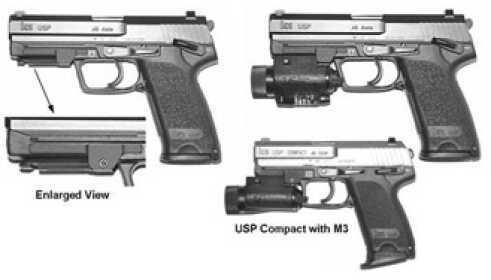 GGG M3/M6 Mount Black Slim Line HK USP Cmp -1134SL GGG-1134SL