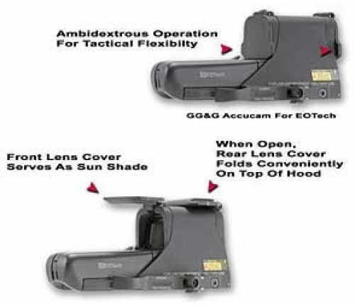 GGG 1275 Scopecover EOTech 512/552 Flip Lens Cover Black -1275 GGG-1275