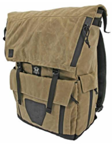 "Grey Ghost Gear Gypsy Backpack Field Tan Waxed Canvas 19""x16""x4.5"" 6025-TAN"