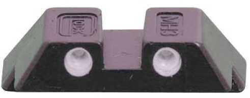Glock Sight 6.5mm Glk 17,19,22,23,24,26,27,31,32,33,34,35,37,38,39 Green Fixed Rear NR17G24