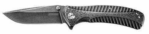 """Kershaw Starter Folding Knife/Assisted Black-Oxide BlackWash 3.4"""""""