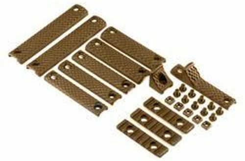 Knight's Armament Knights Armament Company URX 3/3.1 12 Piece Rail Panel Kit, Black Finish, 1 1-Hole Handstop, 3 2-Hol