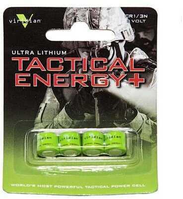 Viridian Green Lasers Viridian Green Laser Battery, 1/3n Lithium Battery, 4 Pack, Green Vir-13n-4