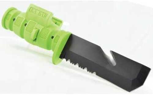 "LaserLyte Pistol Bayonet Zombie Bayonet Zombie Green Serrated Quick Desconnect Sheath 5.75"" PB4-ZK"