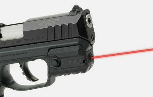 LaserMax Red Rail Laser, Fits Ruger SR22, SR9C, SR30C, Black Finish, Inculdes Battery LMS-RMSR