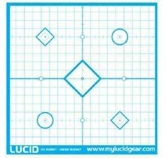 "Lucid Optics LLC Target, 18""X18"", Precision ""Sight In"" Target, 20/Pack L-Target-1"