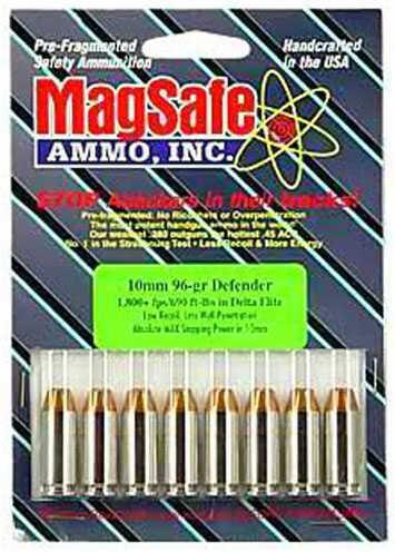 MagSafe Ammo Inc. MagSafe Ammunition Self Defense 357 Sig 45 Grains Pre Fragmented Bulle SWAT 10 Rounds Ammunition MAG357 S&W MAG357SW10