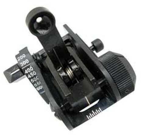 Matech Back Up Iron Sight Sight Picatinny Black Ranging Aperture BUIS