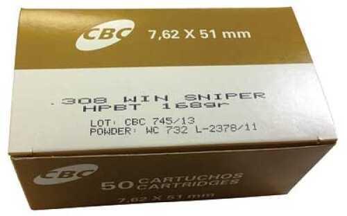 MagTech Ammunition Magtech Match Grade 308 Winchester 168Gr Hollow Point Boat Tail 50 Rounds