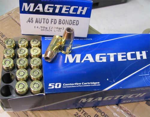 MagTech Ammunition Co. MagTech First Defense Bonded 45 ACP 230Gr Bonded Hollow Point 50 1000 45BONA