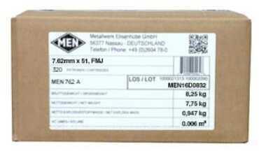 MagTech Ammunition MagTech 7.62x51mm NATO 147 Grain Full Metal Jacket Ammunition, 320 Rounds Per Box Md: MEN762A