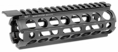 Midwest Industries M-LOK Rail Section Mid Length Handguard Black Drop-In M-LOK Handguard AR Rifles Mi-18M