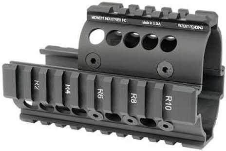 Midwest Industries Forearm Black 4-Rail Handguard Mini Draco Pistol MI-AK-MD