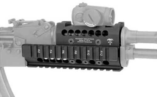 Midwest Industries Forearm Black Burris Fast Fire Topcover AK MI-AKH-BF