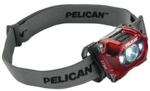 Pelican 2760 Led Head Light, 204 Lumens, Red 02760