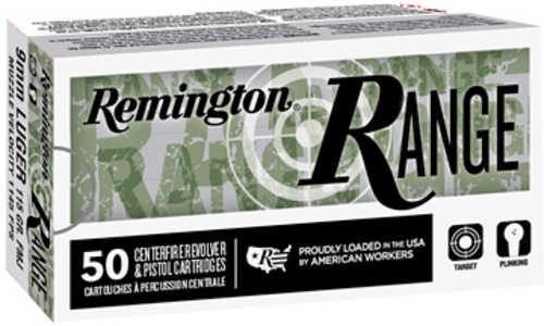 Remington Range 9mm 115 Grain Full Metal Jacket 50 Round Box 28564